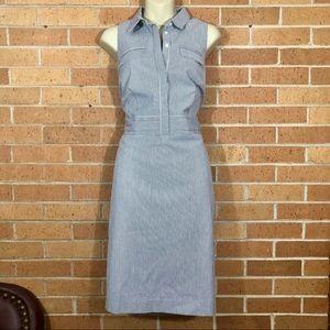 Ann Taylor Dress Striped size 10 Shirtdress